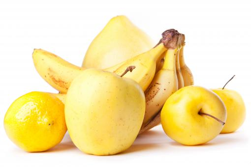 Free Stock Photo of banana and apples