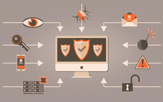 Free Stock Photo of Web Security - Antivirus and Firewall Concept with Shields