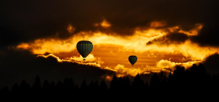 Free Stock Photo of Hot Air Balloon Ride