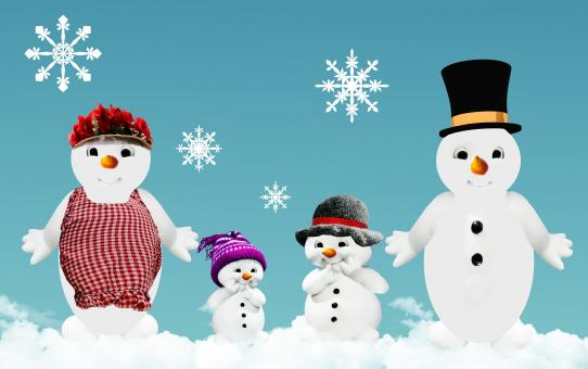 Free Stock Photo of Snowmen on Christmas