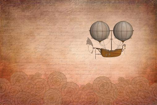 Free Stock Photo of Vintage Hot Air Balloon - Discovery and Invention Concept