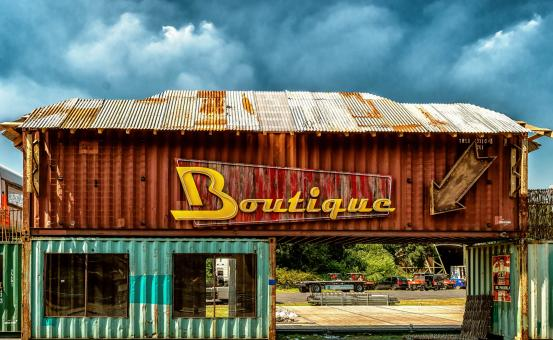 Free Stock Photo of Rusting Boutique