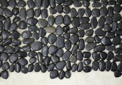 Free Stock Photo of Black Pebbles