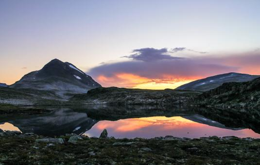 Free Stock Photo of Beautiful Sunset in the Norwegian Mountains