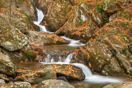 Free Stock Photo of Autumn Zig Zag Cascades - HDR