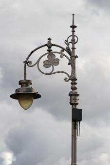 Free Stock Photo of Ornate Street Lamp in Dublin