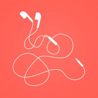 Free Stock Photo of Earphones - Earbuds Isolated