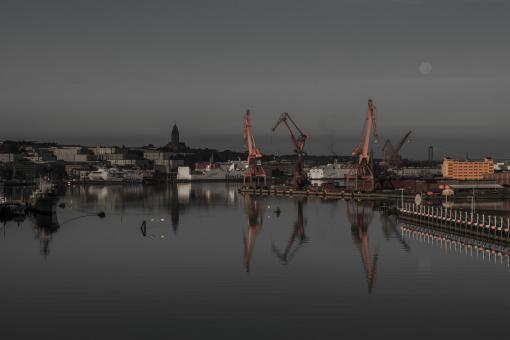 Free Stock Photo of Harbour at Night