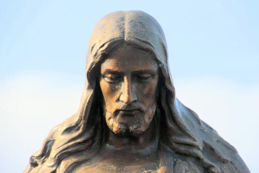 Free Stock Photo of Jesus Portrait - Sculpture