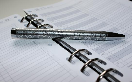 Free Stock Photo of Pen and Notebook