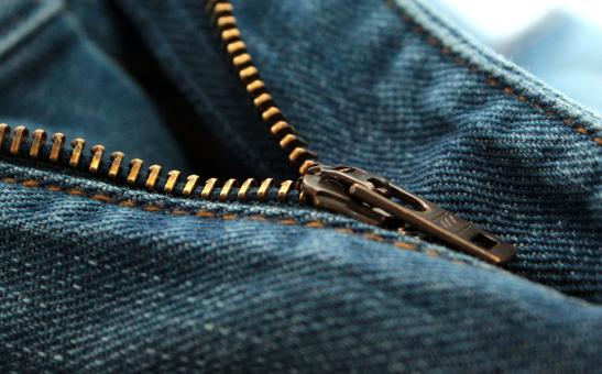 Free Stock Photo of Jeans Zipper