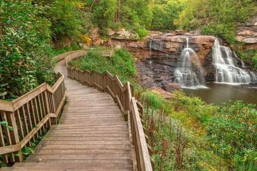 Free Stock Photo of Winding Blackwater Falls - HDR