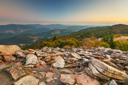 Free Stock Photo of Spruce Knob Mountain Sunset - HDR