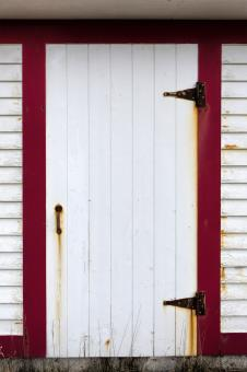 Free Stock Photo of White and red door