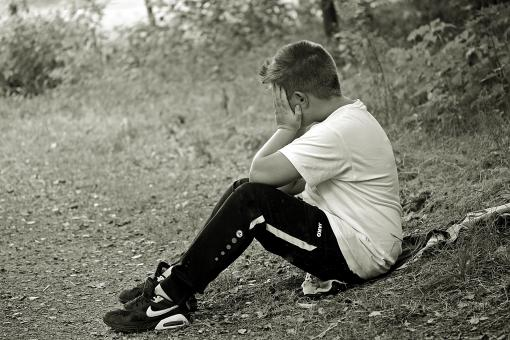 Free Stock Photo of Sad Teen Boy