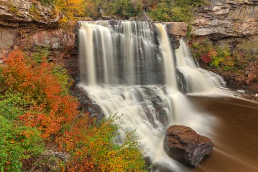 Free Stock Photo of Blackwater Autumn Falls - HDR