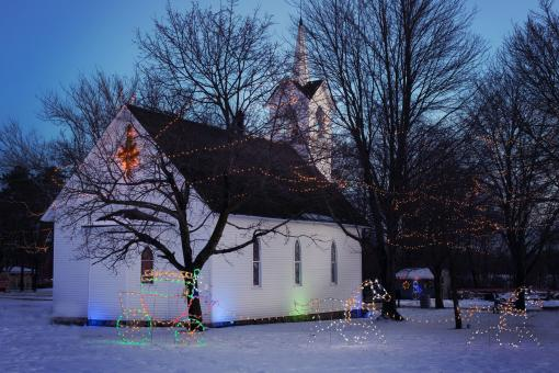 Free Stock Photo of Christmas Church