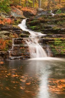 Free Stock Photo of Spinning Autumn Factory Falls