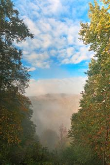 Free Stock Photo of Misty Mountain oVerlook - HDR