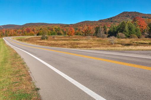 Free Stock Photo of Winding Autumn Canaan Valley Road - HDR