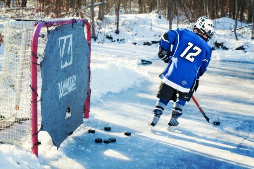 Free Stock Photo of Outside Ice Hockey