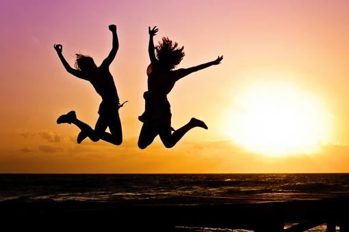 Free Stock Photo of Jump of Joy