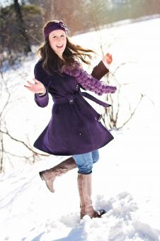 Free Stock Photo of Dancing in Winter