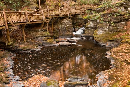Free Stock Photo of Swirling Bushkill Fall Stream