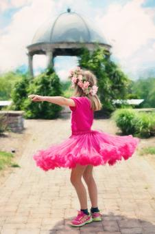 Free Stock Photo of Little Girl Twirling