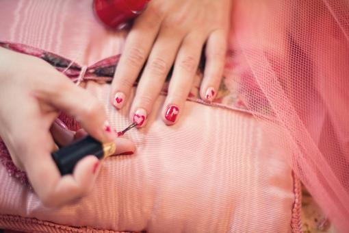 Free Stock Photo of painting Fingernails