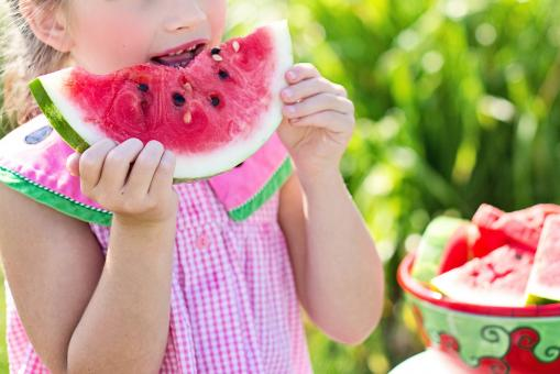 Free Stock Photo of Eating Watermelon