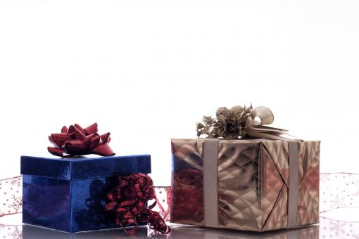 Free Stock Photo of Christmas Gift Boxes