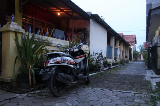 Free Stock Photo of Parked Fino Motorcycle Indonesia