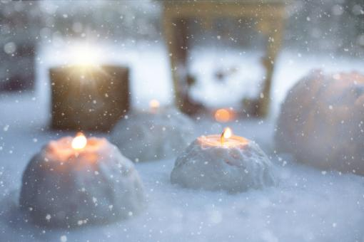 Free Stock Photo of Candle Light In Winter