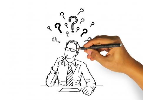 Free Stock Photo of Hand Drawing a Person Having Doubts