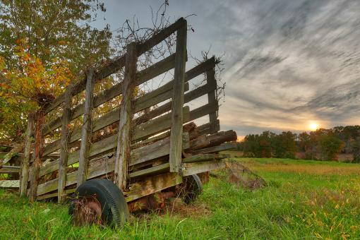 Free Stock Photo of Gettysburg Sunset Decay - HDR