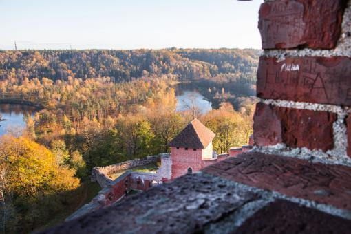 Free Stock Photo of In memory of Autumn - View From Castle