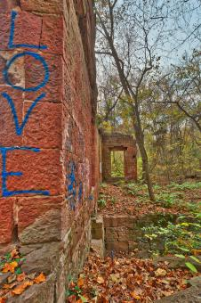 Free Stock Photo of Seneca Mill Love Ruins - HDR