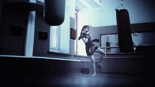 Free Stock Photo of Kick Boxing Training