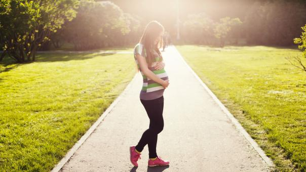 Free Stock Photo of Pregnant Woman on the Route