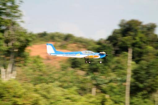 Free Stock Photo of Remote Controlled Airplane Passing