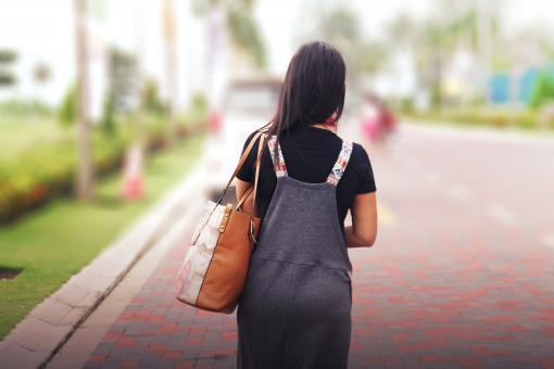 Free Stock Photo of Woman Walking Away