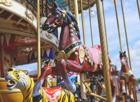 Free Stock Photo of Carousel Ride