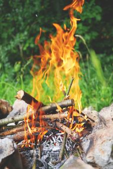 Free Stock Photo of Burning Wood
