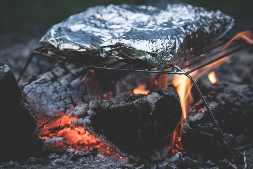 Free Stock Photo of Cooking on Grill
