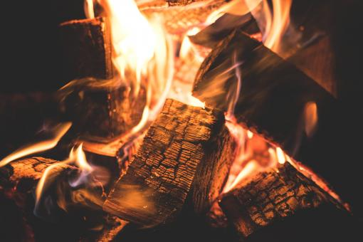 Free Stock Photo of Wood on Fire