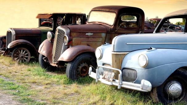 Free Stock Photo of Old Cars in Montana