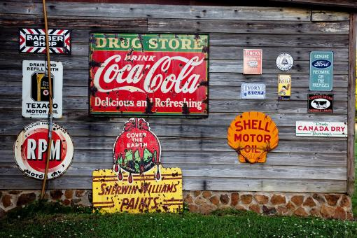 Free Stock Photo of Signs on the Wood