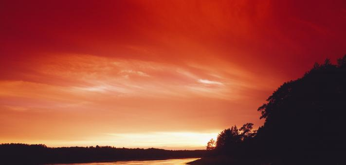 Free Stock Photo of Red Sunset