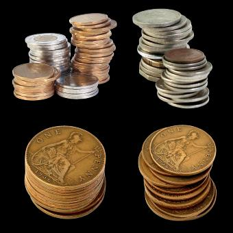 Free Stock Photo of Penny Coins